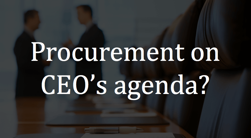 Procurement on CEO's agenda?