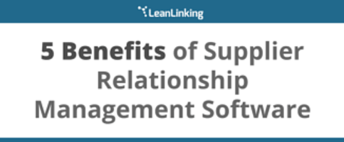 Benefits of supplier relationship management