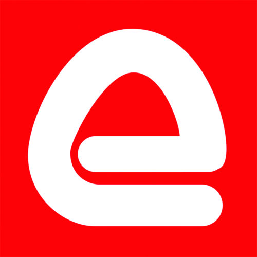 electrocomponents logo, E letter on the red background