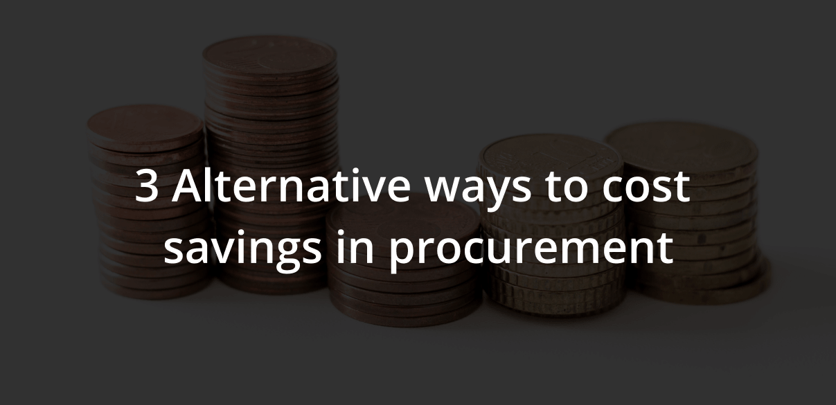 cost saving in procurement